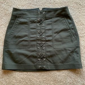 Express Size 2 Olive Mini Skirt with Pockets